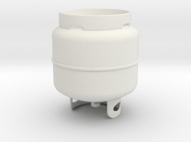 Propane Tank in White Natural Versatile Plastic