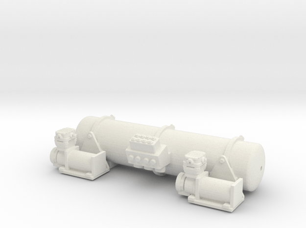 Accuair Dual Viair 1/16 in White Natural Versatile Plastic