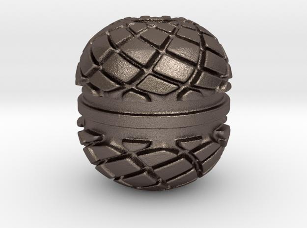 Spiro Begleri Bead in Polished Bronzed Silver Steel