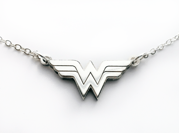 Wonder Woman Necklace in Polished Bronzed Silver Steel
