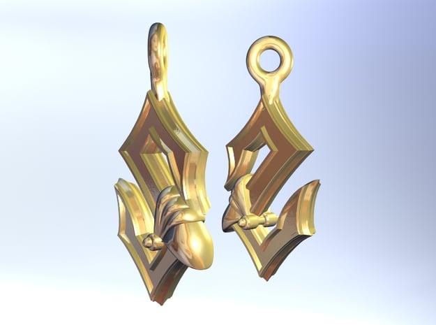 Sabaton Earrings in Polished Gold Steel