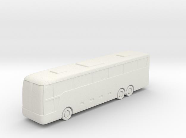 Large Bus in White Natural Versatile Plastic: 6mm