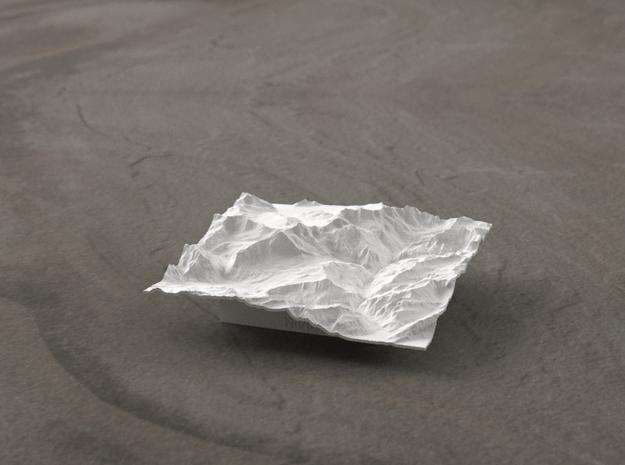 3''/7.5cm Oberland Peaks, Switzerland in White Natural Versatile Plastic