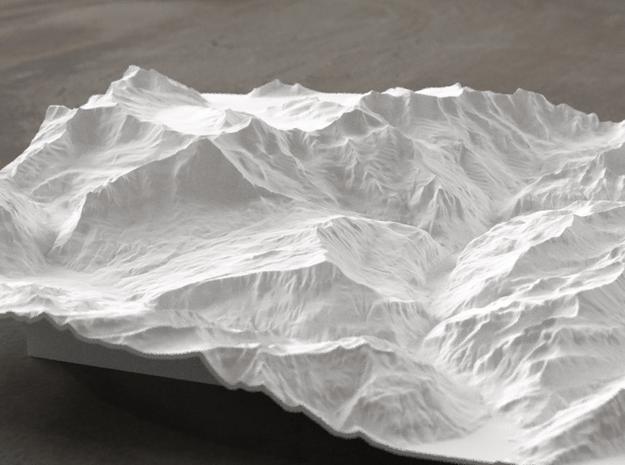8''/20cm Oberland Peaks, Switzerland in White Natural Versatile Plastic