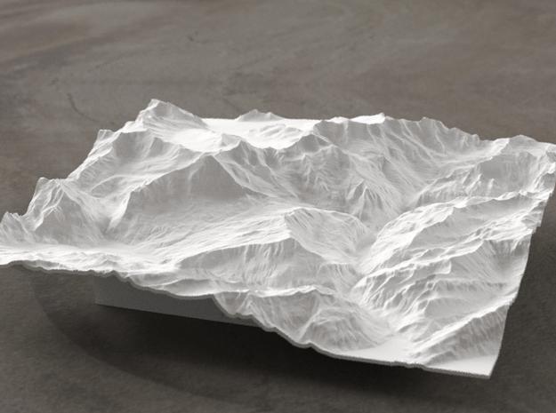6''/15cm Oberland Peaks, Switzerland in White Natural Versatile Plastic