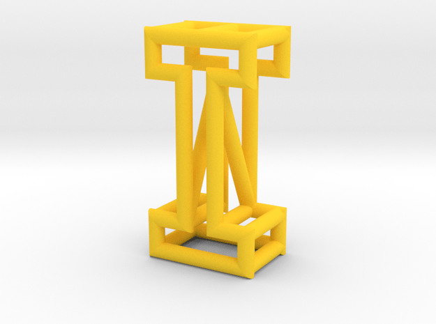 I in Yellow Processed Versatile Plastic