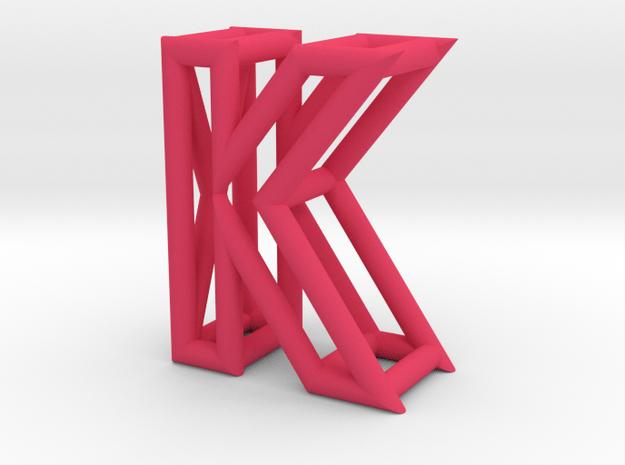 K in Pink Processed Versatile Plastic