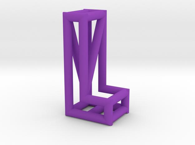 L in Purple Processed Versatile Plastic