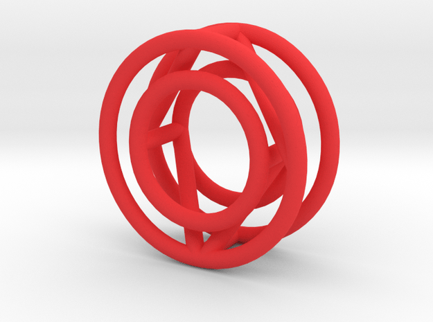 O in Red Processed Versatile Plastic