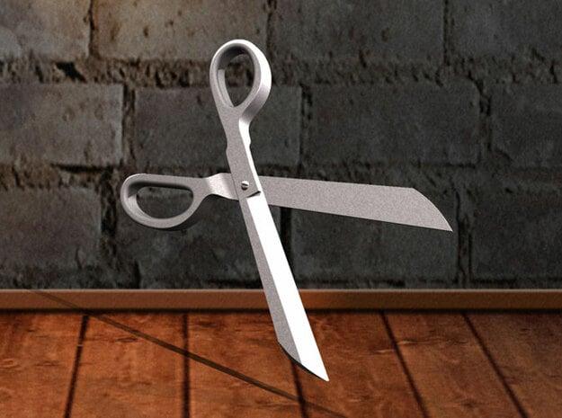 Scissors Pendant in White Natural Versatile Plastic