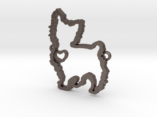 Yorkie in Polished Bronzed Silver Steel