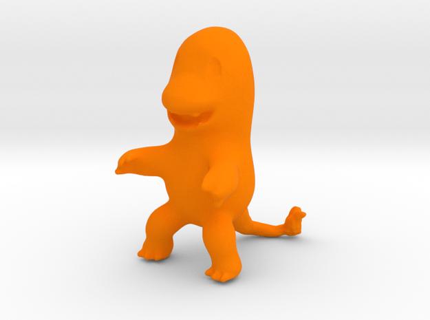 Charmander in Orange Processed Versatile Plastic