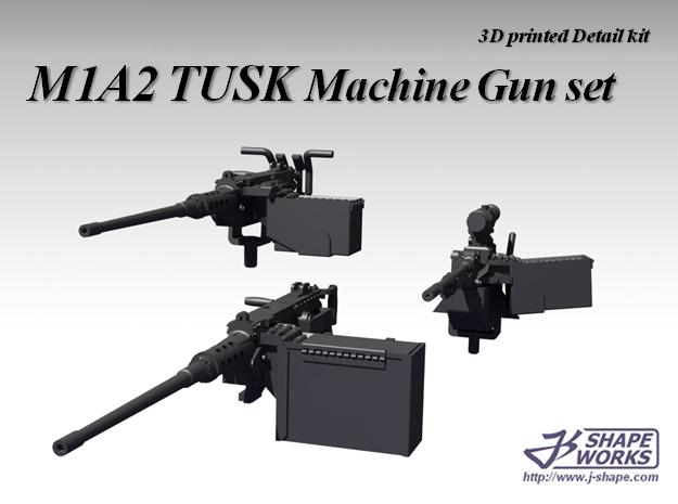 1/18 M1A2 Tusk Machine Gun set in Smooth Fine Detail Plastic
