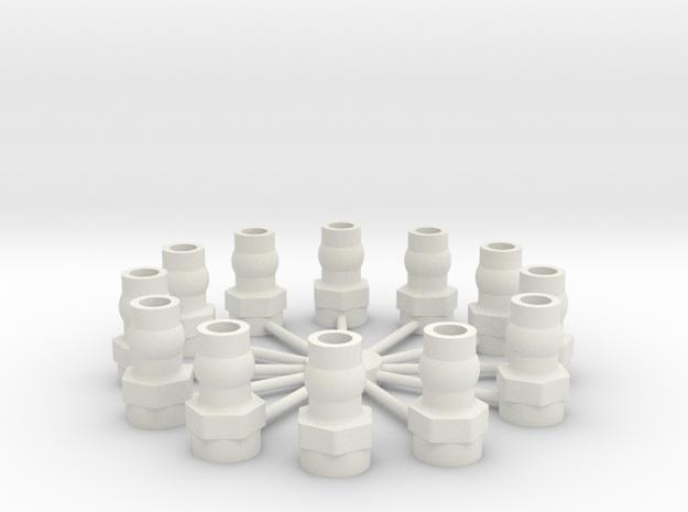 Shock Cap Balls 12 in White Natural Versatile Plastic