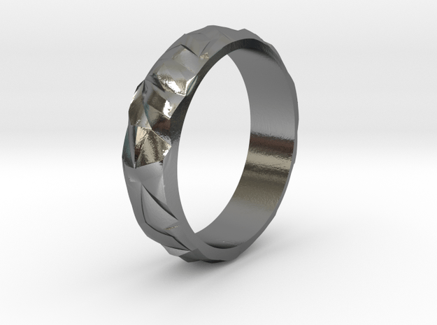 Ice silver ring in Polished Silver: 9 / 59
