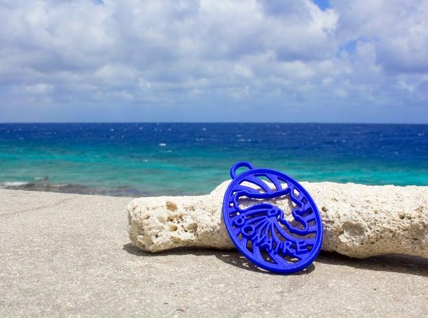 Bonaire Keychain/Pendant in Blue Processed Versatile Plastic