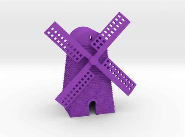 Windmill in Purple Processed Versatile Plastic