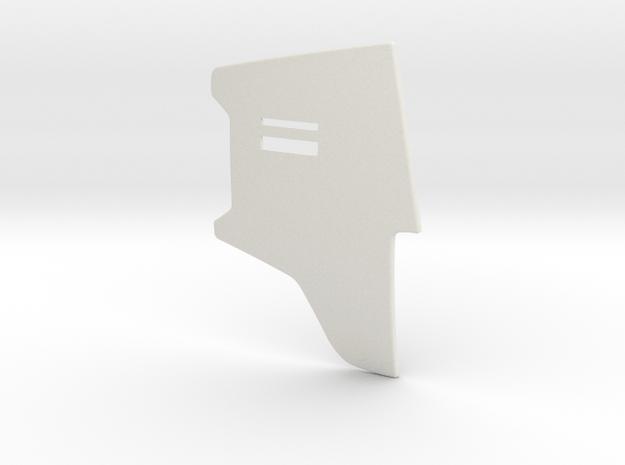Boba Fett Left Chest Plate in White Natural Versatile Plastic