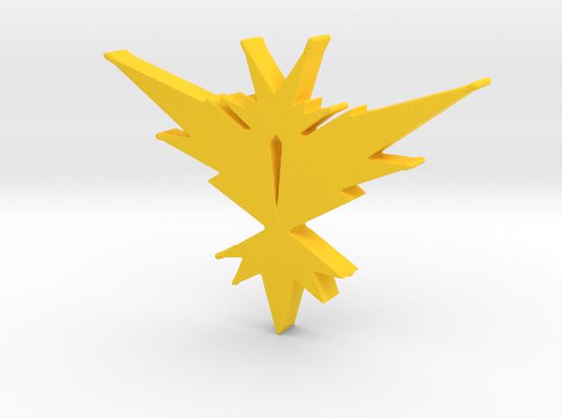 Team Instinct - Pokemon Go in Yellow Processed Versatile Plastic