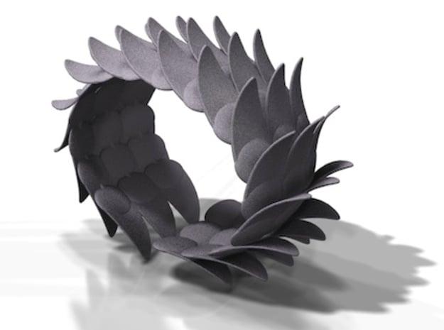 Vleugelarmband  in Black Natural Versatile Plastic