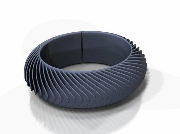 Blaadjesarmband / Leaves bracelet in Black Natural Versatile Plastic: Medium
