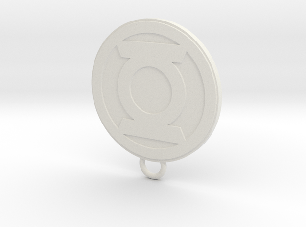 Lantern Fan Keychain in White Natural Versatile Plastic
