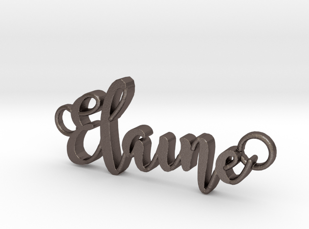 Elaine in Polished Bronzed Silver Steel