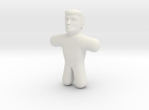 Trump Voodoo Doll - Small in White Natural Versatile Plastic
