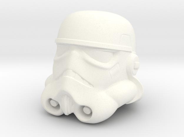 Storm Trooper Helmet  in White Processed Versatile Plastic