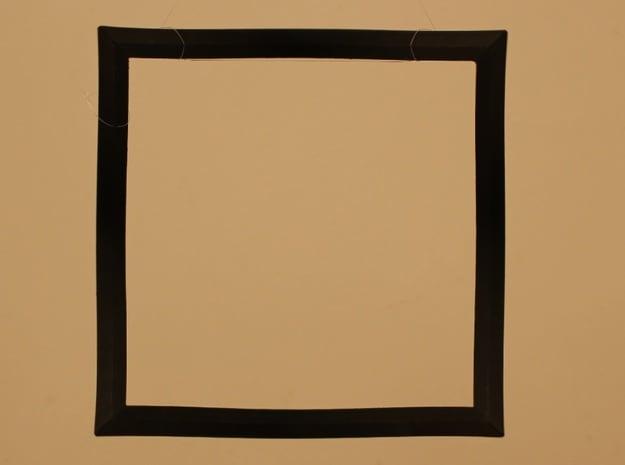 Square circle version 1 in Black Natural Versatile Plastic