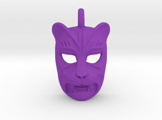 Plastic Leopard Small Pendant in Purple Processed Versatile Plastic