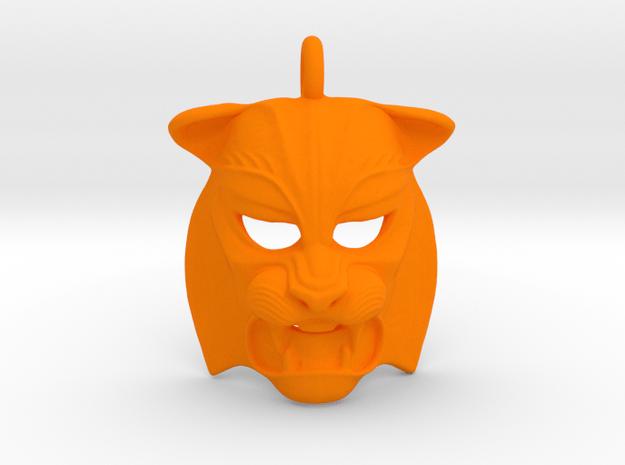 Plastic Tiger Pendant  in Orange Processed Versatile Plastic