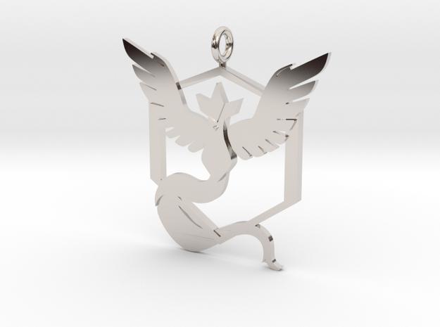 Pokémon Go Team Mystic Pendant in Rhodium Plated Brass