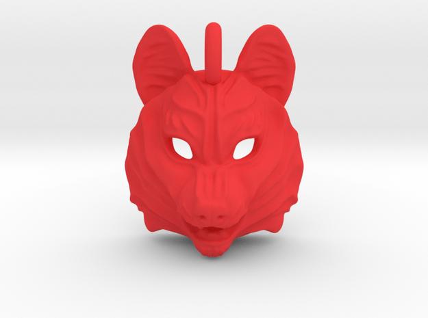 Plastic Husky Pendant in Red Processed Versatile Plastic
