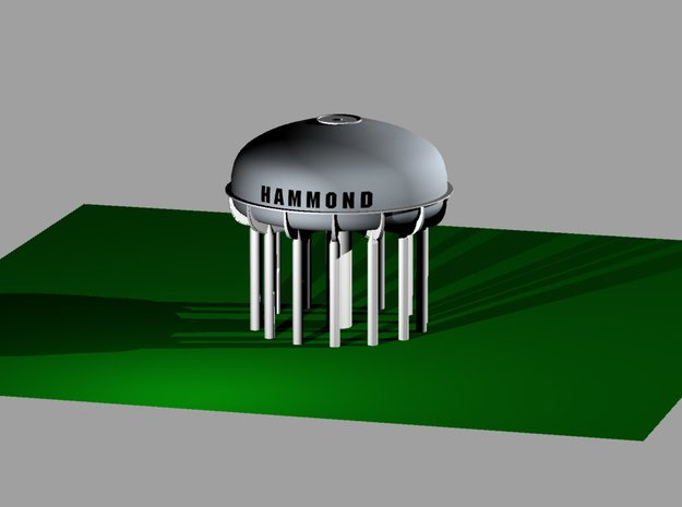 Hammond Water Tower in White Natural Versatile Plastic