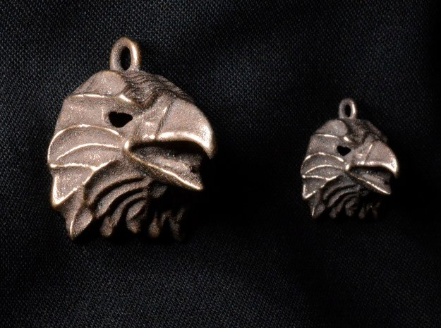 Eagle Small Pendant in Polished Bronze Steel