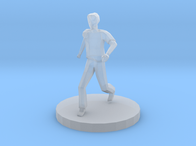 Male Runner in Smooth Fine Detail Plastic