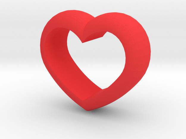 Heart Napkin Ring in Red Processed Versatile Plastic