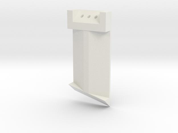 Boba Fett Right Lower Ear in White Natural Versatile Plastic