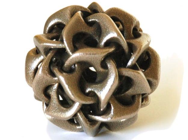 Dodecahedron IV, medium in White Natural Versatile Plastic