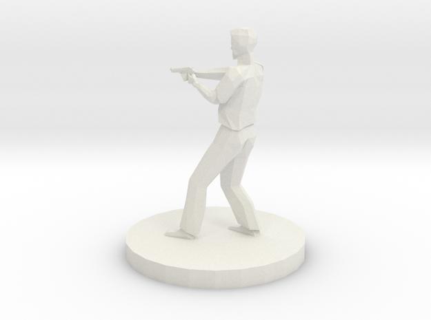Sheriff With Pistol in White Natural Versatile Plastic