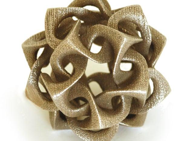 Icosahedron I, medium in White Natural Versatile Plastic