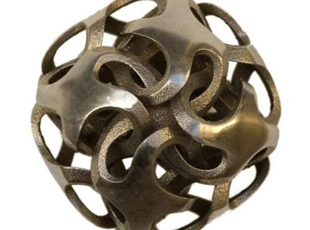 Rhombic Dodecahedron I, medium in White Natural Versatile Plastic