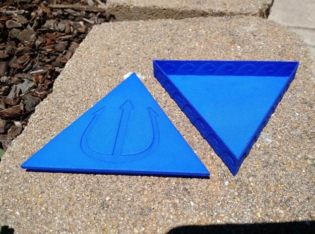 Trident Box in Blue Processed Versatile Plastic