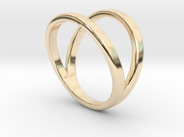 Split Ring Size 7 in 14k Gold Plated Brass