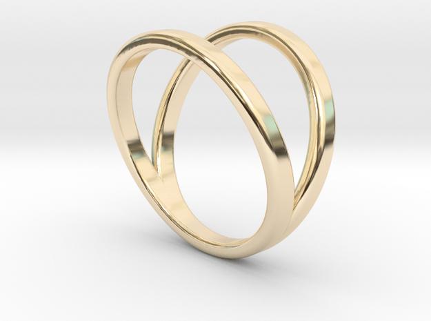Split Ring Size 8 in 14k Gold Plated Brass