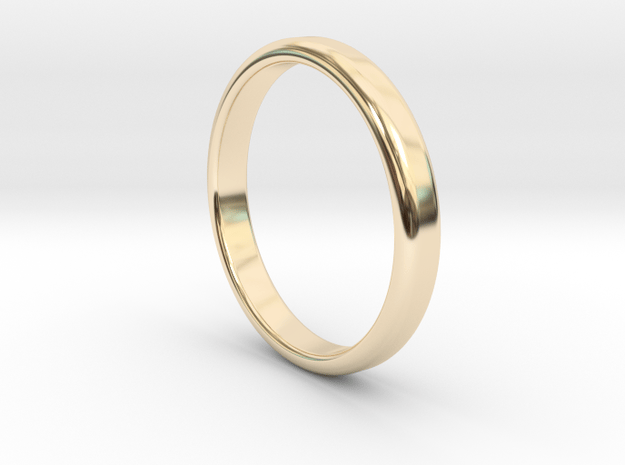 Ring Band Size 8 in 14k Gold Plated Brass