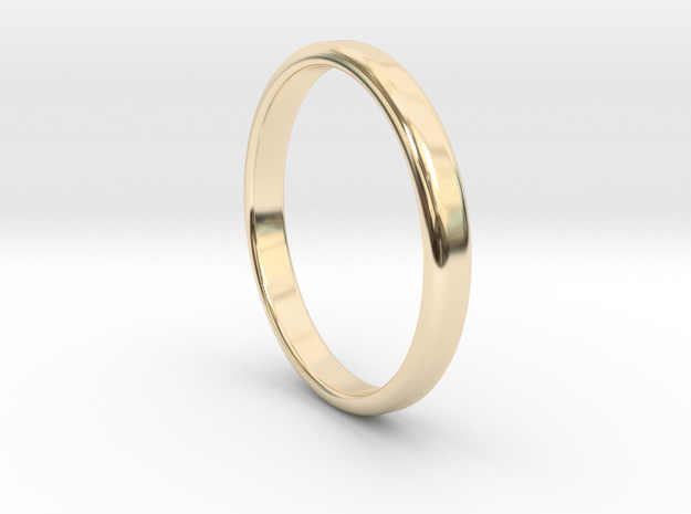 Ring Band Size 11 in 14k Gold Plated Brass