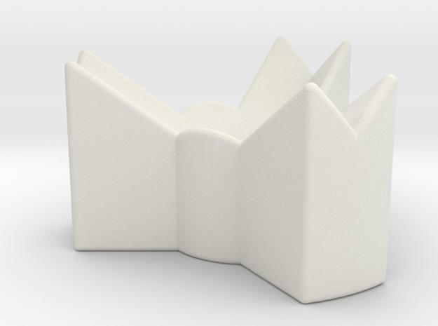 Dice Stand Tripod in White Natural Versatile Plastic