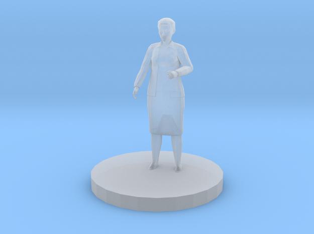 Elderly Woman in Smooth Fine Detail Plastic